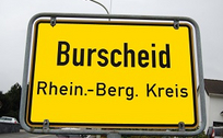 Ortsschild Burscheid